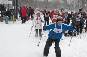 Чтобы не замерзнуть, состязались и без лыж