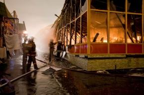 У метро «Текстильщики» сгорели торговые павильоны