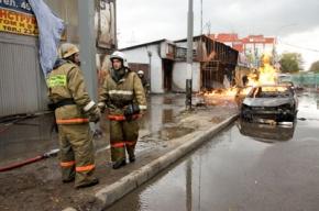 Пожар у метро «Водный стадион» произошел из-за действий строителей