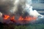 Рядом с Московским проспектом сгорел вагон: Фоторепортаж