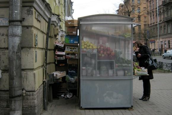 Ларьки с овощами уродуют центр: Фото