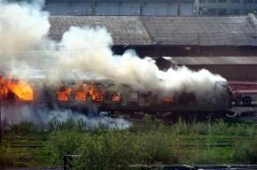Рядом с Московским проспектом сгорел вагон
