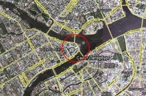 На стрелке Васильевского острова образовалась пробка