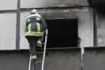 Фоторепортаж: «Пожар на проспекте Науки - фото с места событий»