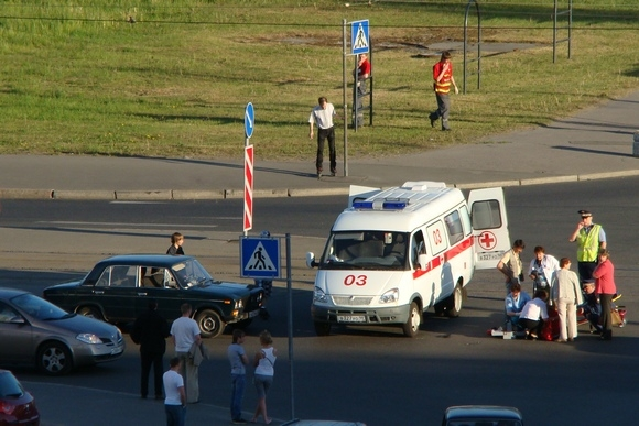 "На улице Савушкина на ""зебре"" сбили пешехода: Фото"