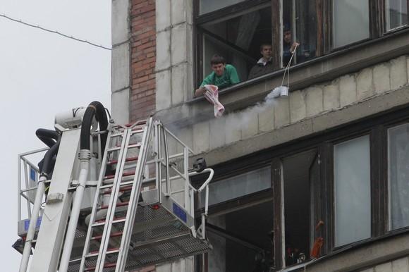 У общежития СПбГУ прошли учения: Фото
