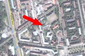 В Петербурге горит дом на улице Александра Матросова