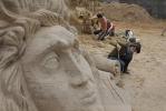 У Петропавловской крепости открывается конкурс песчаных скульптур: Фоторепортаж