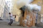 У музея Кирова вчера был пожар: Фоторепортаж