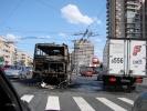 Маршрутка на Ленинском сгорела полностью: Фоторепортаж