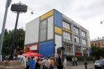 В Петербурге появилась граффити-гостиница: Фоторепортаж
