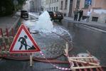 Фоторепортаж: «Вчера на набережной Мойки из-под земли бил фонтан»