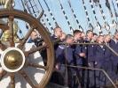 Фоторепортаж: «Регата: В Польше паруса «Седова» сожгли «китайским фонариком»»