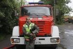 Фоторепортаж: «Огонь полностью уничтожил ангар на Литовской улице»