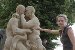 Фоторепортаж: «У Петропавловской крепости открывается конкурс песчаных скульптур»