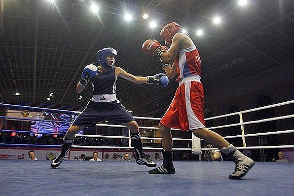 В финалах женского боксерского турнира выступит 11 россиянок: Фото