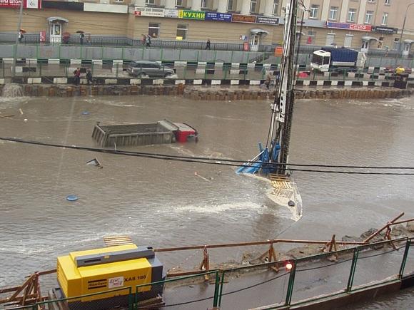 Потоп в Москве вызвал транспортный коллапс: Фото