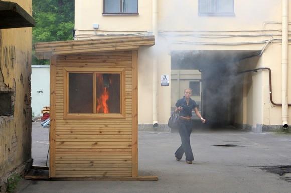 У музея Кирова вчера был пожар: Фото