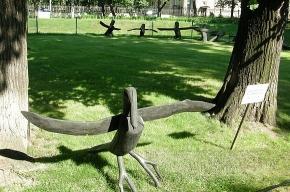В Михайловском саду забыли огромных птиц