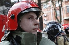 Сильный пожар на Литовской улице