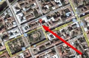 На Садовой улице обрушилась часть фасада