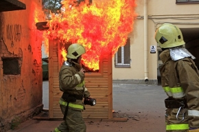 У музея Кирова вчера был пожар