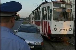 Пьяный водитель создал трамвайную пробку