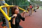 В Петербурге открылась площадка с уличными тренажерами: Фоторепортаж