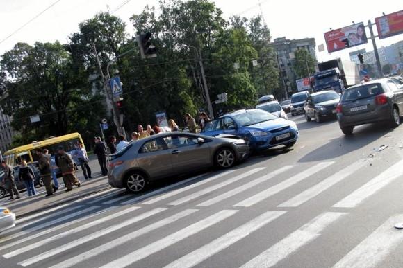 На Выборгской стороне милиционеры устроили ДТП: Фото