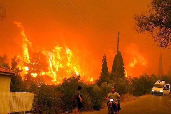 Лесные пожары в Греции приняли масштаб катастрофы: Фото