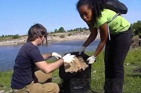 Кузьминское водохранилище очистили от мусора