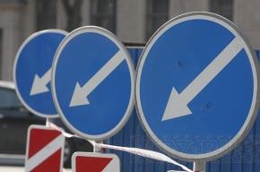 Новые ограничения движения на улицах Петербурга