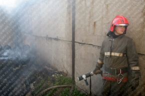 В Петербурге горела колония