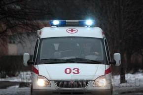На Пулковском шоссе перевернулась машина скорой