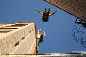 Звезда паркура прыгнет с семиэтажного дома в Автово