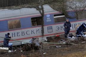 Видео очевидцев с места крушения «Невского экспресса»