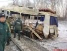 Фоторепортаж: «Движение поездов на месте столкновения восстановлено»