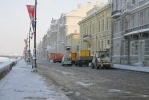 Фоторепортаж: «На Дворцовой набережной прорвало пожарный гидрант (ФОТО)»