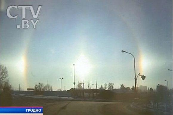 Вчера белорусы видели три Солнца: Фото