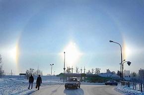 Вчера белорусы видели три Солнца