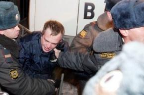 У «Гостиного двора» задерживают участников несанкционированного митинга