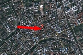В центре Петербурга прорвало трубу