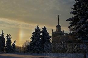 Вчера на рассвете петербуржцы видели радугу