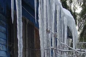Уборка льда опасна для машин и пешеходов