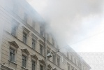 При пожаре на Блохина погибла женщина: Фоторепортаж