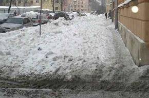 А у нас снег не убирали ни разу!