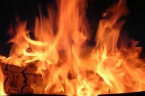В Выборгском районе загорелась котельная