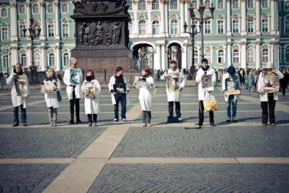 Зоозащитники выразили протест против опытов над животными: Фото