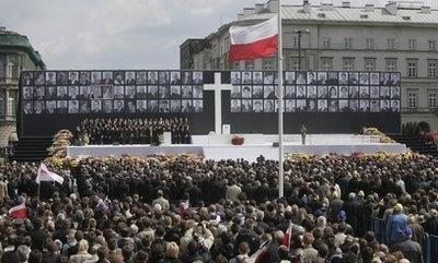 В Польше прощаются с погибшими в авиакатастрофе под Смоленском (фото): Фото