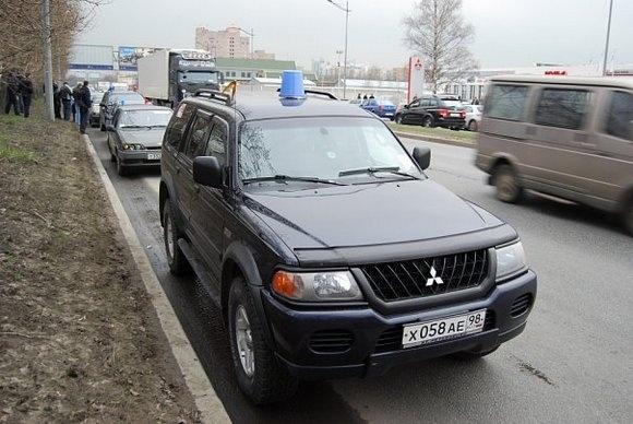 «Синие ведерки» перехитрили милицию: Фото